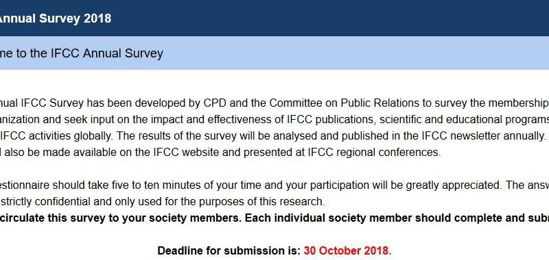 Chestionar IFCC 2018